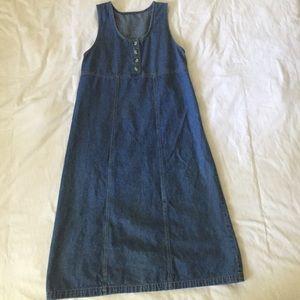 Vintage 90s Denim Sleeveless Jumper/Dress